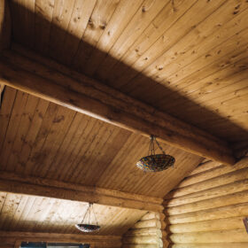 Эко-тех проект Альпийский луг оцилиндрованное бревно