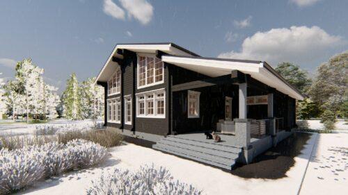 Дом из клееного бруса Элен