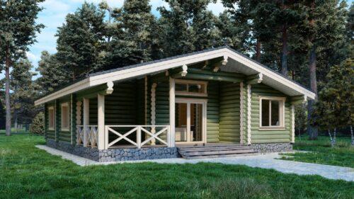 Дом из оцилиндрованного бревна Тула