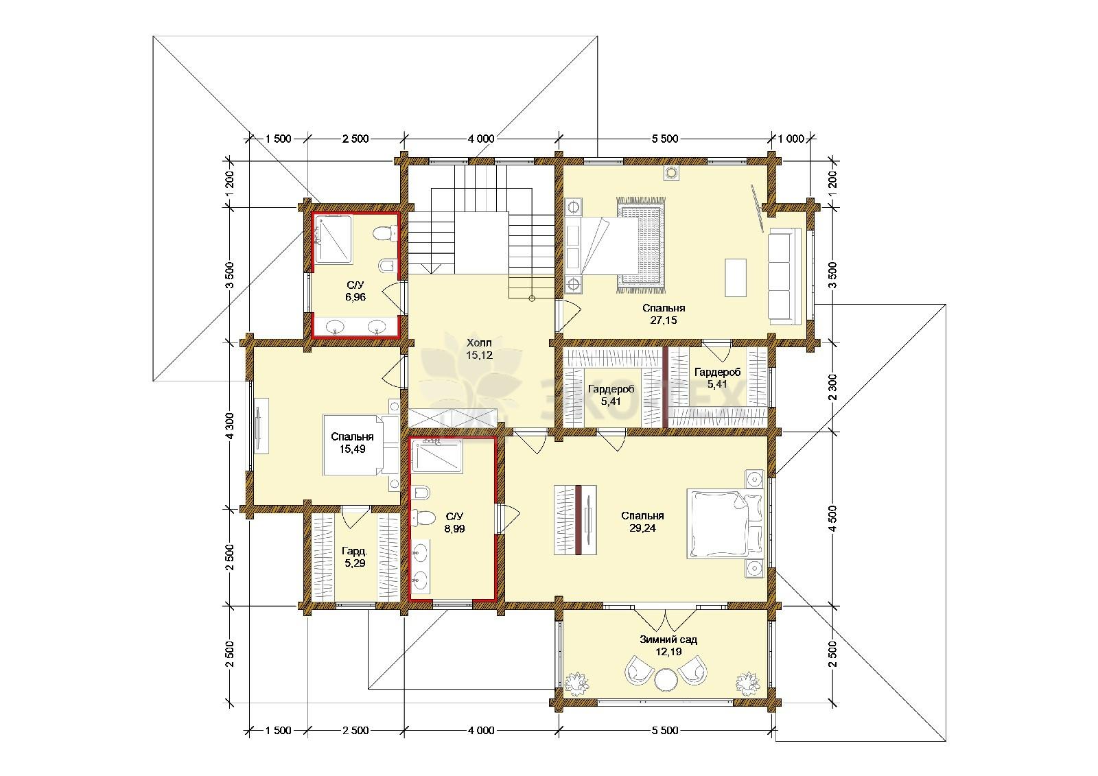 Планировка 2 этаж