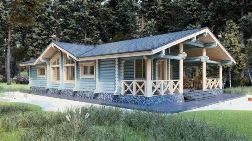 Дом из оцилиндрованного бревна Весенний