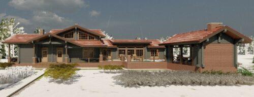 Дом из клееного бруса Дориан грей