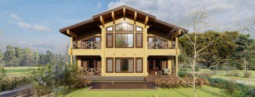 Дом из клееного бруса Вишневый сад