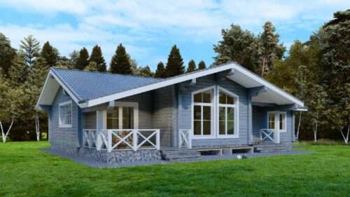 Дом из клееного бруса Балтик