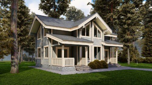 Дом из клееного бруса Малаховка